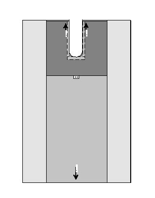 OP-Abdecktuch mit 10 x 100 cm Schlitz